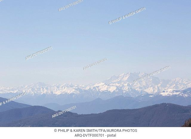 View of mountain ranges