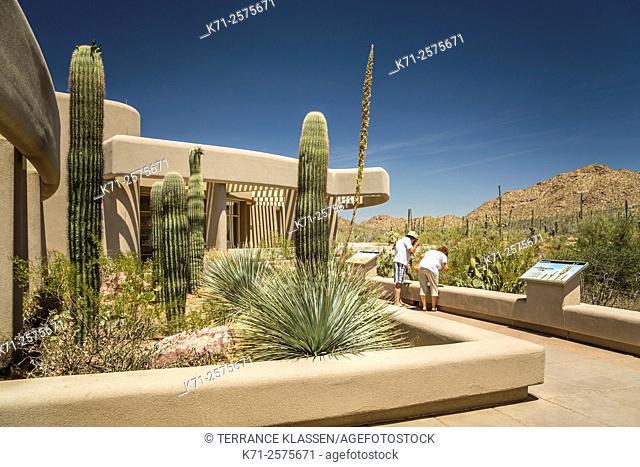 The Saguaro National Park Visitor's Center near Tucson, Arizona, USA