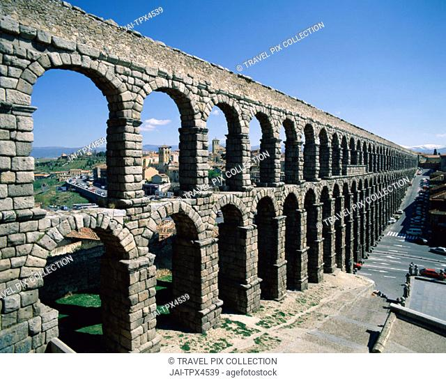 Aqueduct, Segovia, Castilla y Leon, Spain
