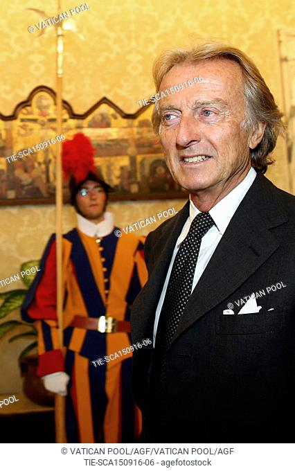 Former Chairman of Ferrari and President of Alitalia Luca Cordero di Montezemolo attends an audience with Pope Francis and Sheikh Mohamed Bin Zayed Al Nahyan