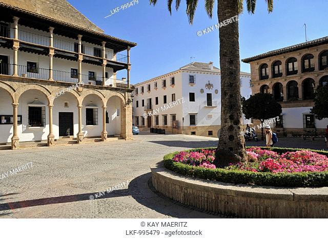 Plaza Duquesa de Parcent in the old town of Ronda, Malaga Province, Andalusia