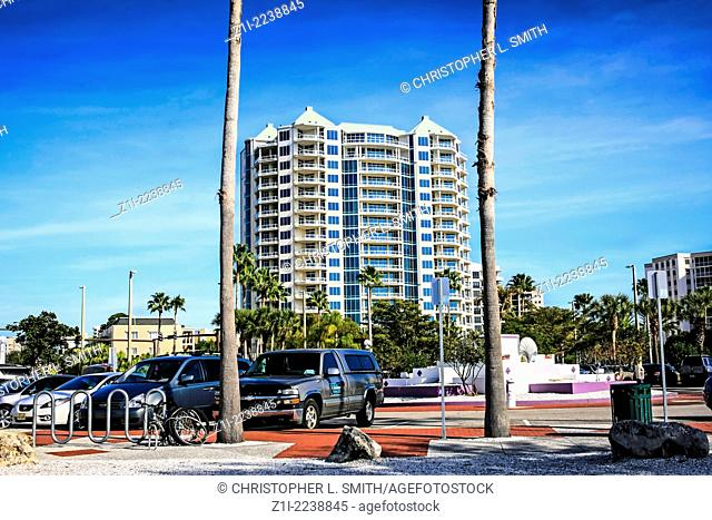 Apartments on the waterfront in downtown Sarasota Florida