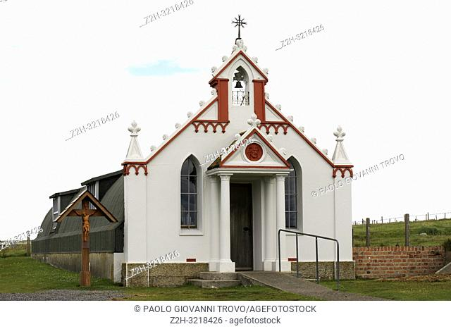 Italian Chapel, Lamb Holm, Orkney, Scotland, Highlands, United Kingdom