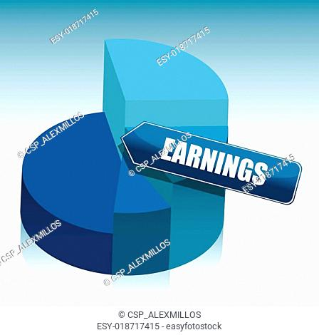 pie chart earning illustration