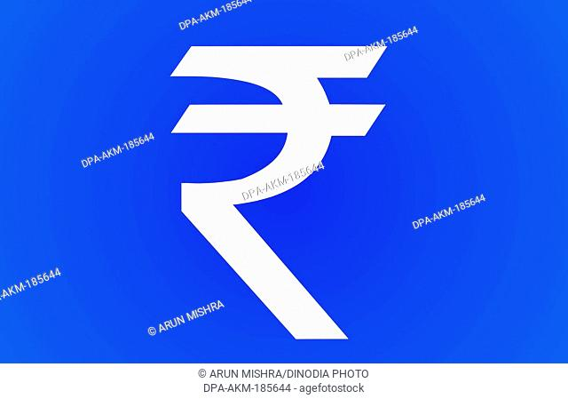 symbol of indian currency rupee mumbai maharashtra India