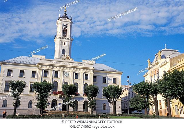 Cernivci, city hall, Ukraine, Western Ukraine