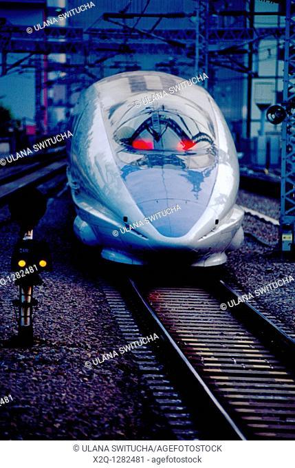 Shinkansen bullet train Tokyo Japan