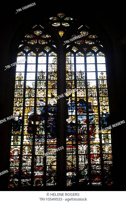 Amsterdam Holland St Francis Xavier Church Stained Glass Windows