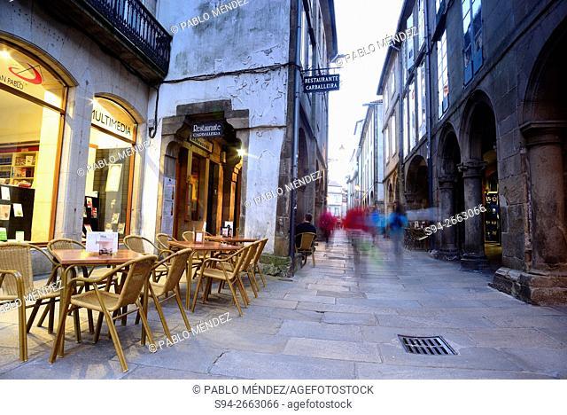 Alley in the center of Santiago de Compostela, Galicia, Spain