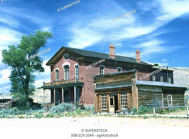 Meade Hotel and Skinner's Saloon Bannack Ghost Town Bannack State Park Montana USA