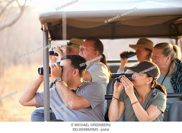 Tourists on safari tour, Victoria Falls, Zimbabwe