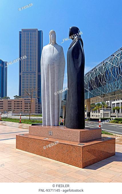 Statue at Sheikh Mohammed Bin Rashid Boulevard, Dubai