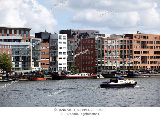 Recent housebuilding on Java island, artificial island, Amsterdam, Holland region, Netherlands, Europe