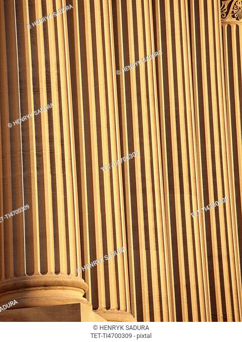 USA, Tennessee, Nashville, State Capitol Building, Close up of columns
