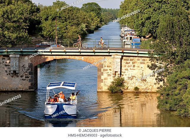France, Herault, Vias, the Canal du Midi