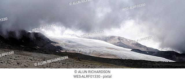 Russia, Upper Baksan Valley, Caucasus, Mount Elbrus