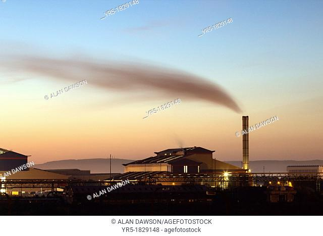 Energy from Waste plant incinerator at Haverton Hill near Billingham, Teesside, England, UK  eesside Energy from Waste incinerator plant has a processing...