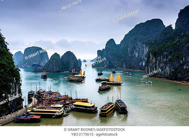 A View Of Halong Bay, Gulf of Tonkin, Vietnam
