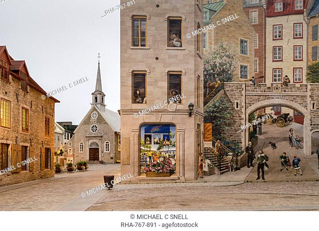 Wall Painting In Quebec City Stock Photos And Images Age Fotostock