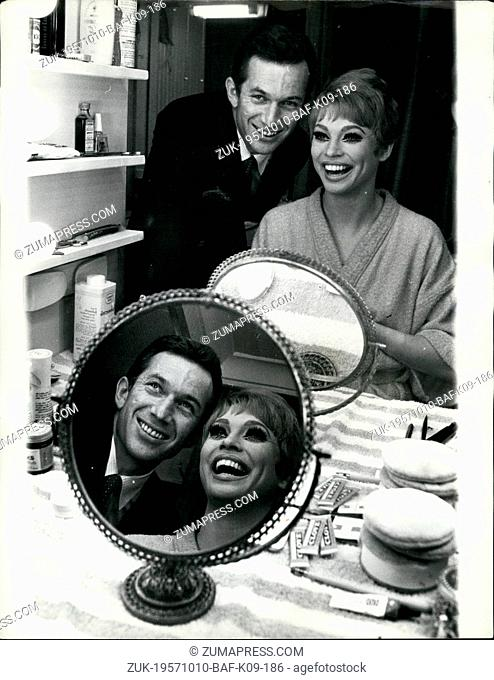 Oct. 10, 1957 - Juliet Prowse stars in American Musical 'Sweet Charity': Juliet Prowse, star of the American musical 'Sweet Charity' which opens at the Prince...