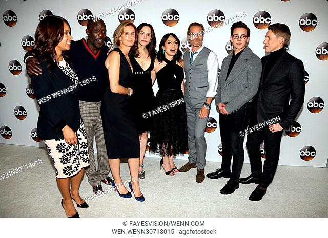 Disney/ABC TV TCA Winter 2017 Party at Langham Hotel - Arrivals Featuring: Rachel Griffiths, Mary-Louise Parker, Dustin Lance Black, Guy Pearce