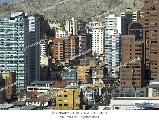 Bolivian capital of La Paz - the highest capital in the world. It's altitude ranges from 4058m (outskirts, populated by lower-income people) to 3100 (city...