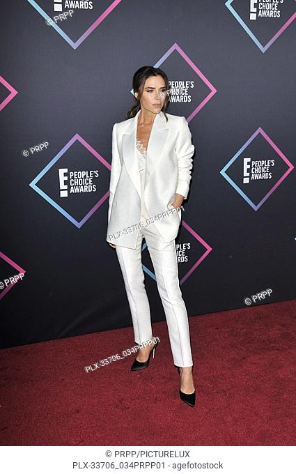 Victoria Beckham at E! People's Choice Awards held at the Barker Hangar in Santa Monica, CA on Sunday, November 11, 2018. Photo by PRPP / PictureLux