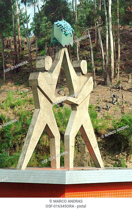 a monument statues at gramado city