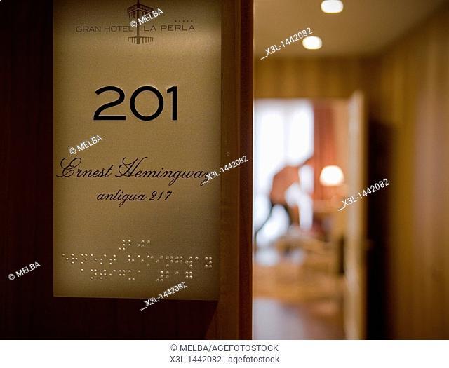 Hemingway bedroom, La Perla Hotel  Pamplona  Navarra  Spain
