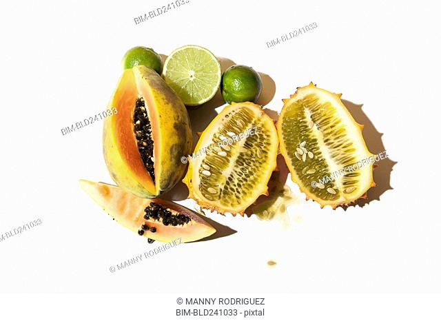 Seeds in sliced fruit