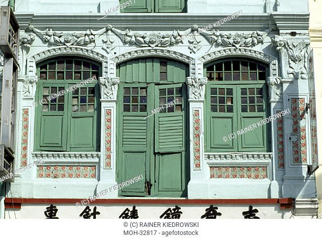 Singapur, Chinatown, Jalan Besar/ Shophaus Architektur