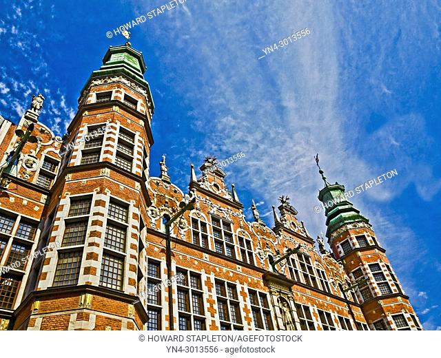 Arsenal building Gdansk, Poland. The building is currently occupied in part by the Academy of Fine Arts