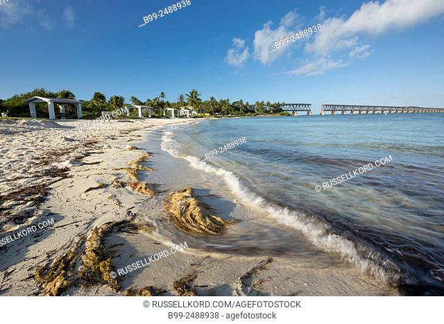 Old Railway Bridge Calusa Beach Bahia Honda State Park Bahia Honda Key Florida Usa