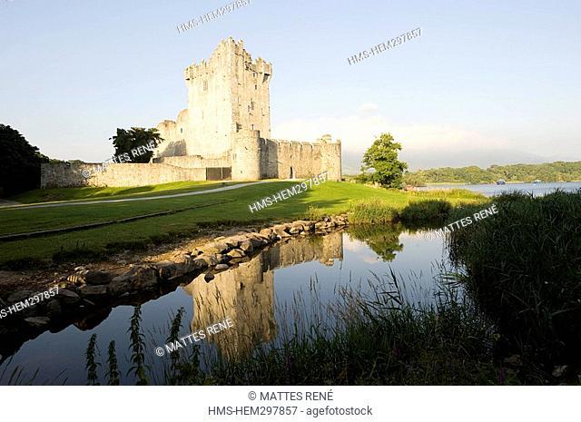 Ireland, Kerry County, South Coast, national park of Killarney, Ross Castle and Lough Leane lower lake