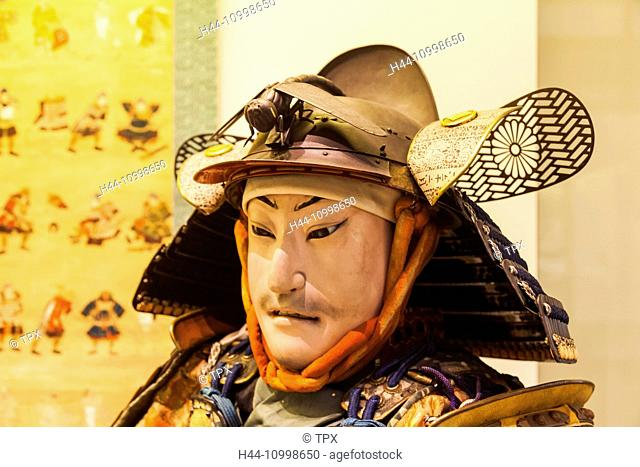 England, London, Kensington, Victoria and Albert Museum aka V&A, The Japan Room, Samurai Suit of Armour dated 1800