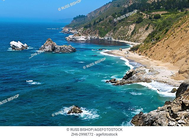 Rugged coastline on the Pacific, Big Sur, California USA