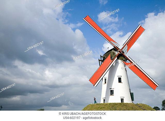 Windmill in Damme. Brugge. Belgium