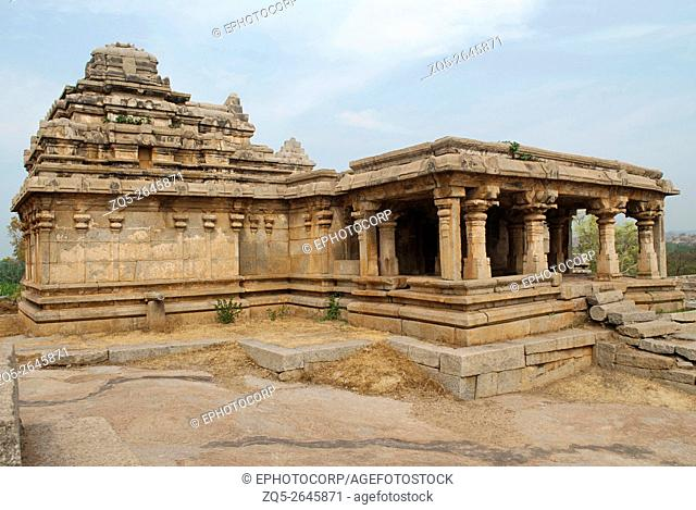 Shiva temple, Hemakuta Hill, Hampi, Karnataka, India. Sacred Center