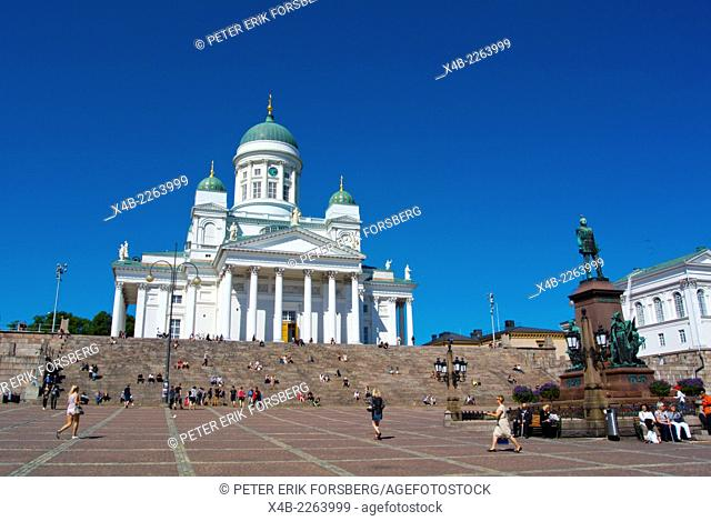 Tuomiokirkko, the Cathedral, Senaatintori, Senate Square, Helsinki, Finland, Europe