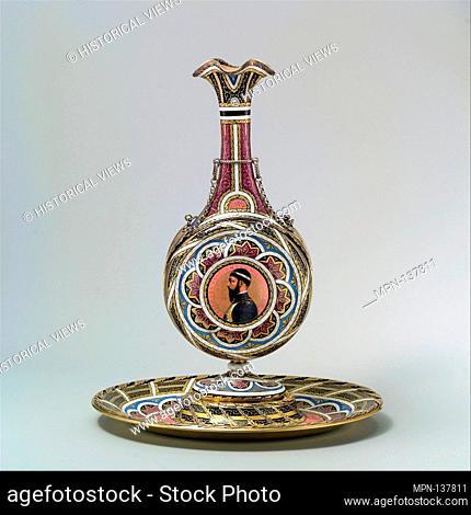 Vase on stand. Artist: Enameler: Charles Lepec (1830-after 1888); Date: ca. 1867; Culture: French, Paris; Medium: Enamel on silver