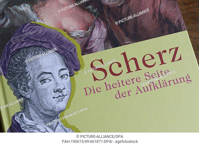 15 June 2019, Saxony-Anhalt, Halberstadt: View of an exhibition catalogue of the special exhibition in the Gleimhaus. A special exhibition to mark the 300th...