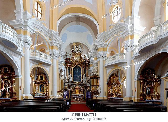 Czech republic, west Bohemia, historic old town of Karlsbad, Karlovy Vary, Marie Madeleine church (Sv Mari Magdaleny)