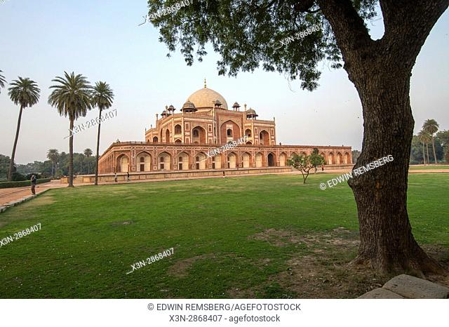 View of Humayun's tomb from the courtyard in New Delhi, India