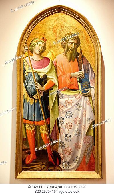 Saint Michel et Saint Barthélemy, Giovanni di Marco, Fine Arts Museum, Musée des Beaux-Arts, Dijon, Côte d'Or, Burgundy Region, Bourgogne, France, Europe