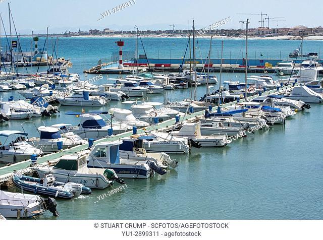 Boats in the Marina at Torre de Horadada Alicante Spain