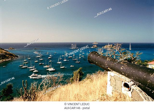 French Caribbean - Caribbean Islands - Saint Barthelemy - Gustavia - View from the Gustave Fortress
