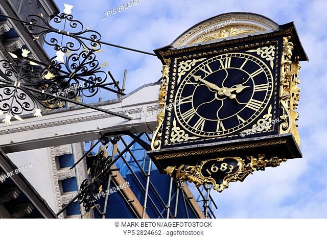 Closeup Guildhall Clock Guildford Surrey