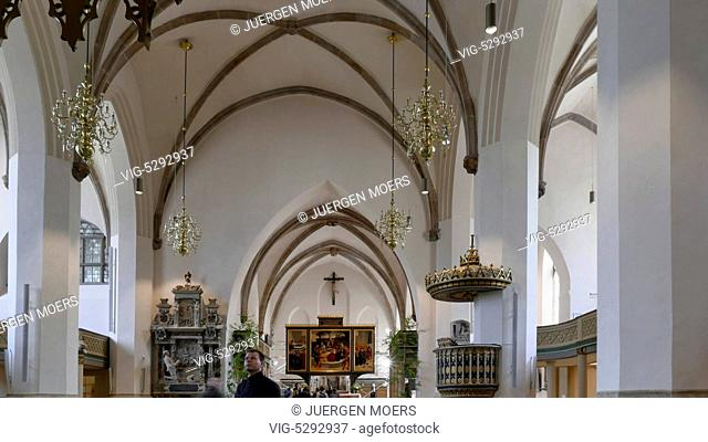 28.05.2015, Germany, Wittenberg, indoors Reformation Church Parish Church St. Marien in Wittenberg . - Wittenberg, Germany, 28/05/2015