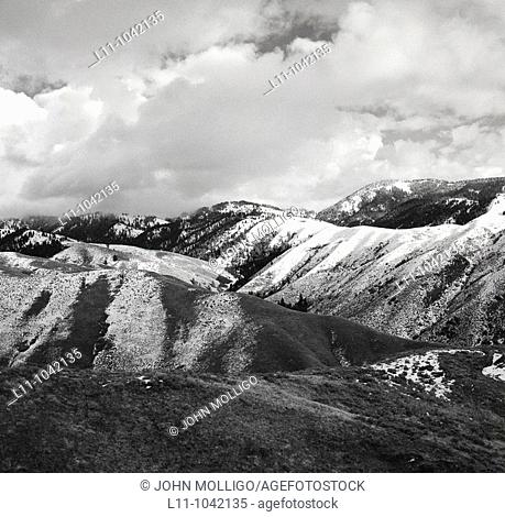 Snow Capped Foothills, Boise, Idaho, USA