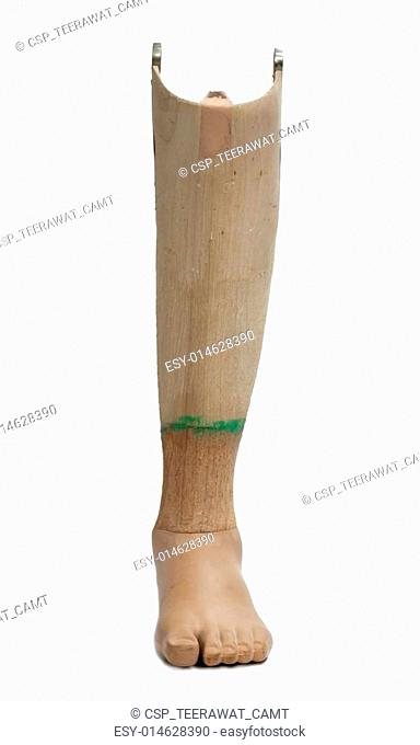 Prosthetic leg isolated on a white background